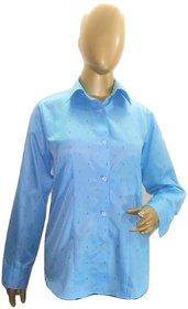 ALIF INTERNATIONAL LADIES SHIRT (BLUE) WITH COLLER