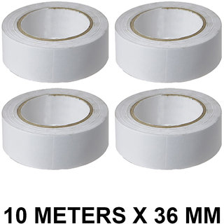 VCR Double Side Tissue Tape - 10 Meters in Length - 36mm / 1.5 Width - 4 Rolls Per Pack