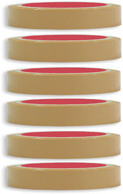 VCR Self Adhesive Brown Cello Tape - 35 Meters in Length - 24mm / 1 Width - 6 Rolls Per Pack