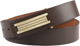 leather belt for men/gents Formal/Casual Branded (Colour -Brown) Stylish Buckle Adjustable Size Genuine Quality