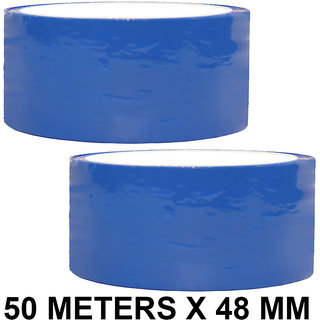 VCR Blue Color Tape - 50 Meters in Length - 48mm / 2 Width - 2 Rolls Per Pack