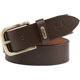 Flyer Brown Adjustable Pure Leather Belt for Men