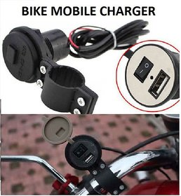 IT SOLUTIONS Waterproof USB Bike Mobile Charger For Two Wheelers - Fast Charging(1Amp)