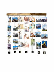 VAH Wood Friend Picture Photo Frame for Wall Decor Photos Artworks Prints Multi Pictures Organizer  Hanging Display