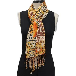 Monika Collection Trendy Rayon Printed Scarf  Stole Size 70 x 180 CM