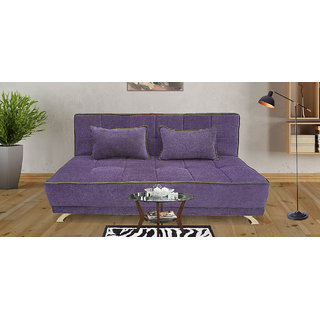 Houzzcraft Alto sofa cum bed purple