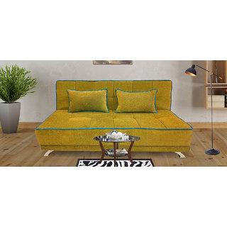 Houzzcraft Alto sofa cum bed yellow