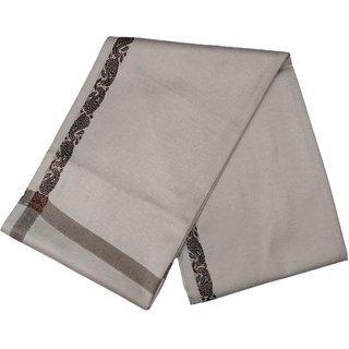 Varun Cloth House Mens Kashmiri Woollen Embellished Bordered Shawl/Lohi (vch6635 Grey Free Size)
