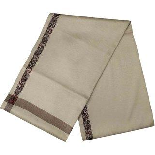 Varun Cloth House Mens Kashmiri Woollen Embellished Bordered Shawl/Lohi (vch6637 Beige Free Size)