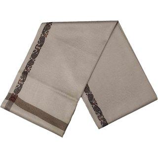 Varun Cloth House Mens Kashmiri Woollen Embellished Bordered Shawl/Lohi (vch6638 Grey Free Size)