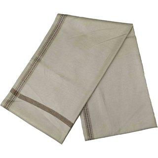 Varun Cloth House Mens Kashmiri Woollen Embellished Bordered Shawl/Lohi (vch6641 Beige Free Size)