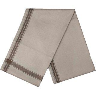 Varun Cloth House Mens Kashmiri Woollen Embellished Bordered Shawl/Lohi (vch6644 Grey Free Size)