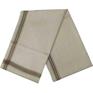 Varun Cloth House Mens Kashmiri Woollen Embellished Bordered Shawl/Lohi (vch6645 Beige Free Size)